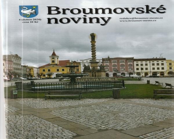 I v dobách koronaviru máme dvojstranu ze života naší školy v Broumovských novinách