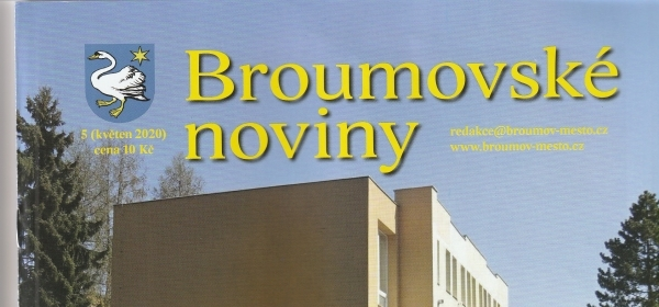 Květnové číslo Broumovských novin tradičně s gymnaziální stopou