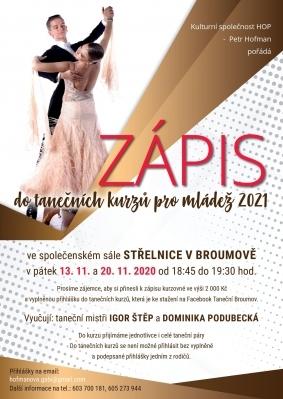 Nabídka pro studenty: Taneční kurzy 2021