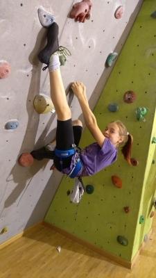 Věděli jste, že v tercii studuje talentovaná lezkyně Eliška Nigrinová?