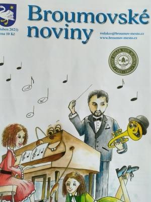 Dubnové Broumovské noviny - hned tři strany ze života naší školy