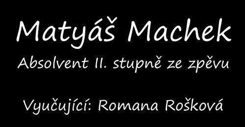 Studují na gymnáziu: Talentovaný hudebník Matyáš Machek ze septimy