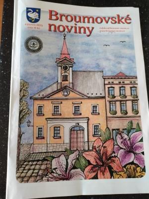 Červnové Broumovské noviny: Informace z gymnázia na stranách 10 a 11