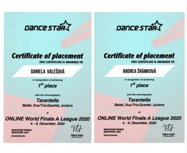 Dance World Cup: Daniela Valešová vybojovala zlatou medaili pro Českou republiku