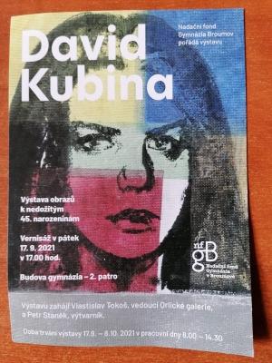 David Kubina - Výstava obrazů k nedožitým 45. narozeninám
