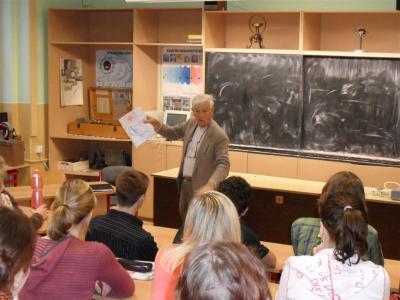 Mel Chancy z amerického Nového Mexika besedoval s našimi studenty