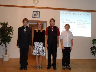Ocenění studenti Nadačním fondem Gymnázia Broumov