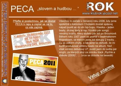 MC Peca vystoupí 19.listopadu v klubu ROK