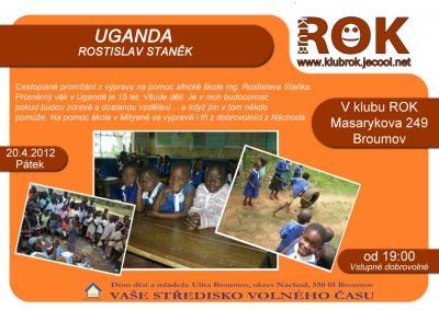 Pátek 20.dubna - beseda o Ugandě