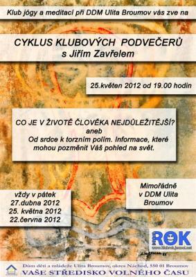 Klub ROK- akce na pátek 25.5.