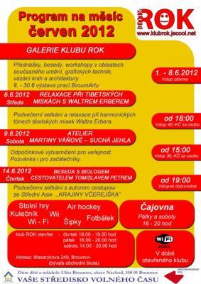 Studentský klub ROK - program na červen