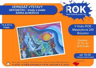 Šárka Burešová z oktávy vystavuje v klubu ROK
