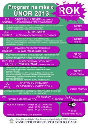 Klub ROK - program na únor 2013