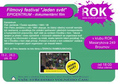 Klub ROK - festival Jeden svět + Šárka Rambousková