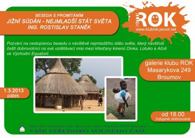 Klub ROK - přednáška 1.3. - Jižní Súdán